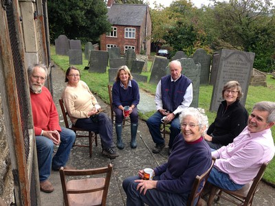 Church yard working party